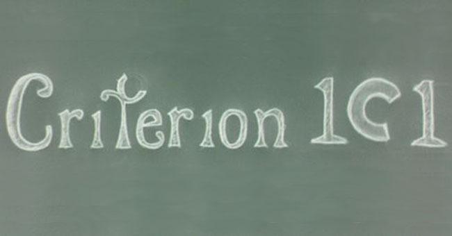 Criterion 101