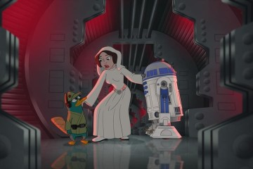 PERRY THE PLATYPUS, PRINCESS LEIA, R2-D2