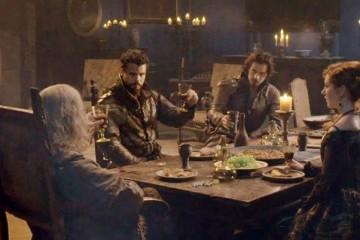 Porthos at Dinner