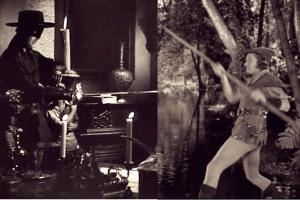 Zorro v Robin Hood--Sepia with Cinema Effect